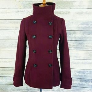 H&M Moroon Red Classic Peacoat